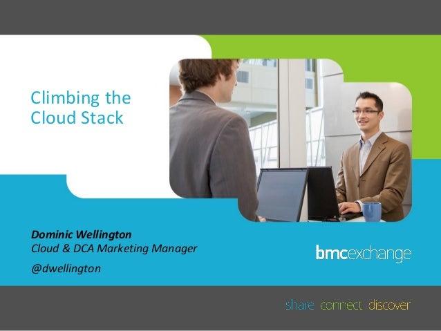 Climbing the Cloud Stack  Dominic Wellington Cloud & DCA Marketing Manager @dwellington