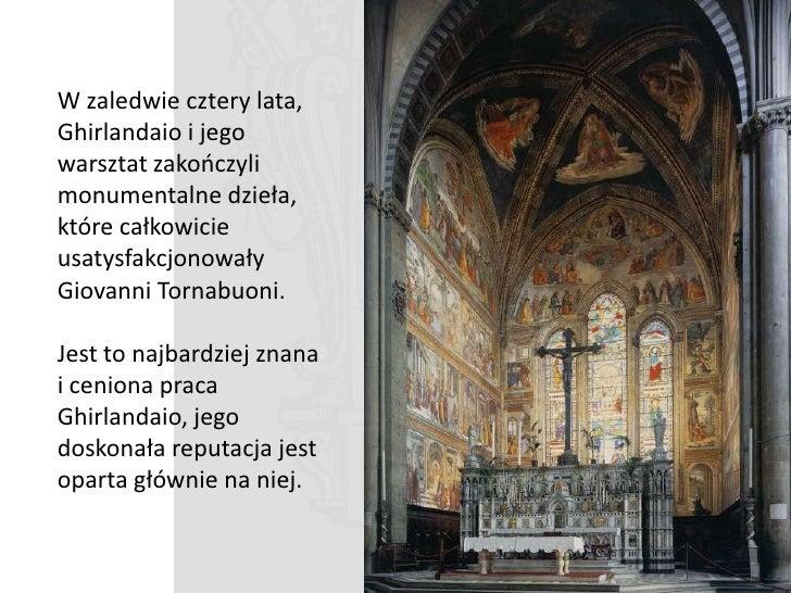 Sklepienie zdobi czterech ponad naturalnej wielkości ewangelistów.  Górne obrazy są gorszej jakości, tam gdzie obrazy mogą...