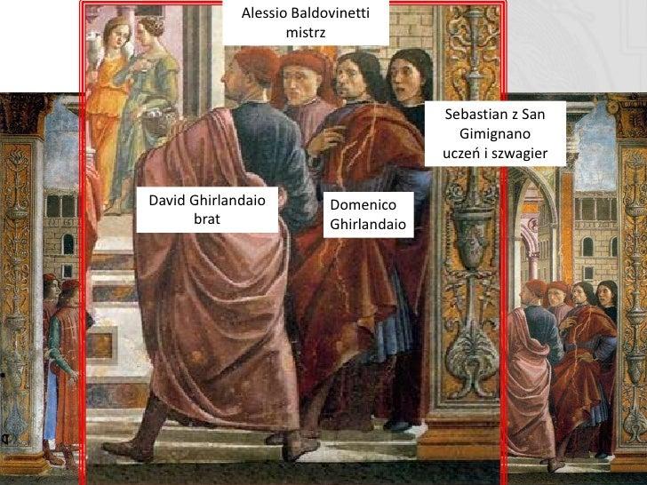Narodziny Marii  W obrazie tym Giorgio Vasari zwraca uwagą na aktywnośd postaci, oraz umiejętnie wręcz zwodząco oddaną grę...