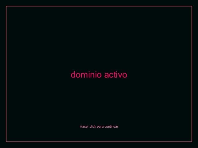 dominio activo  Hacer click para continuar