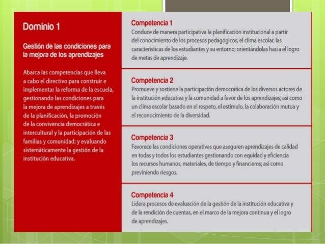 Dominio I del marco del buen desempeño Slide 2