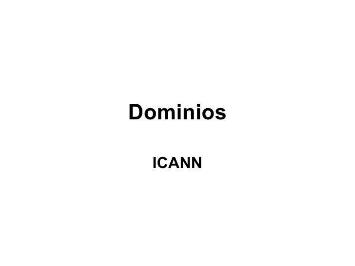 Dominios ICANN