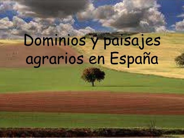 Dominios y paisajesagrarios en España