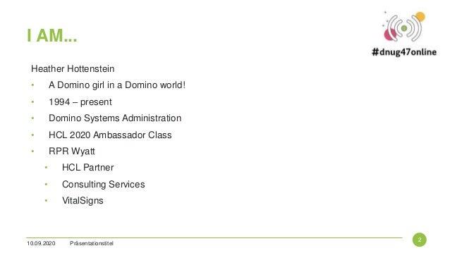 Domino 365 DNUG 2020 Slide 2