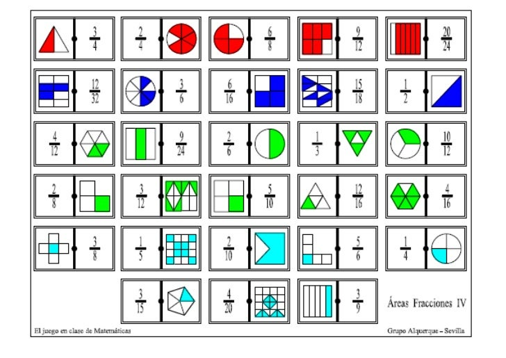 Fracciones Domino Imagui
