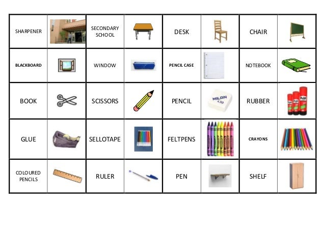 Domino School Objects