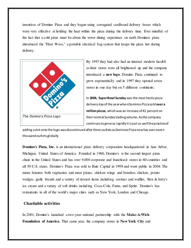 marketing dominos pizza Domino's pizza said a combination of new digital-marketing technologies and social media, coupled with consistent menu pricing strategies, will help maintain the.