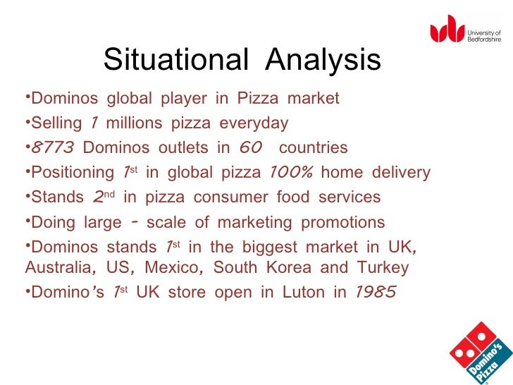 objectives of dominos pizza Pizza hut, domino's, little caesars, and papa john's account for about 39% of the industry's revenue little caesars, the third biggest chain in terms of sales, sells its large 'hot-n-ready' pizza .