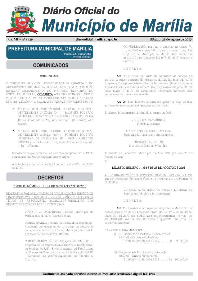 Ano VII • nº 152Ano VII • nº 152Ano VII • nº 152Ano VII • nº 1529999 diariooficial.marilia.sp.gov.brdiariooficial.marilia....