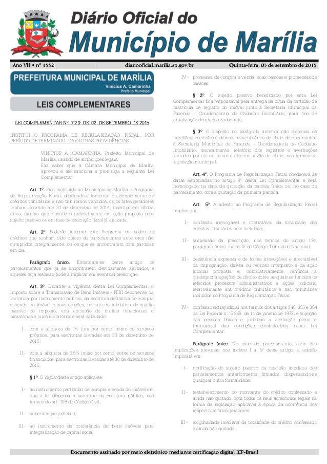 Ano VII • nº 1532Ano VII • nº 1532Ano VII • nº 1532Ano VII • nº 1532 diariooficial.marilia.sp.gov.brdiariooficial.marilia....