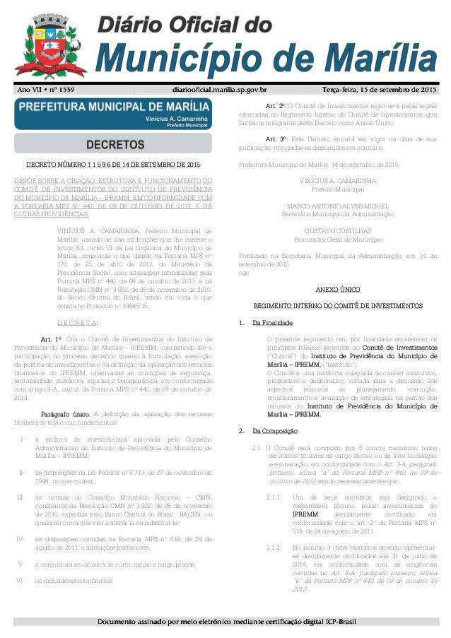 Ano VII • nº 153Ano VII • nº 153Ano VII • nº 153Ano VII • nº 1539999 diariooficial.marilia.sp.gov.brdiariooficial.marilia....