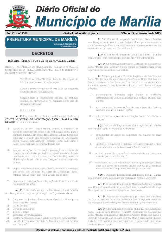 Ano VII • nº 15Ano VII • nº 15Ano VII • nº 15Ano VII • nº 1580808080 diariooficial.marilia.sp.gov.brdiariooficial.marilia....