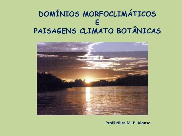 DOMÍNIOS MORFOCLIMÁTICOS              EPAISAGENS CLIMATO BOTÂNICAS               Profª Nilza M. P. Alonso