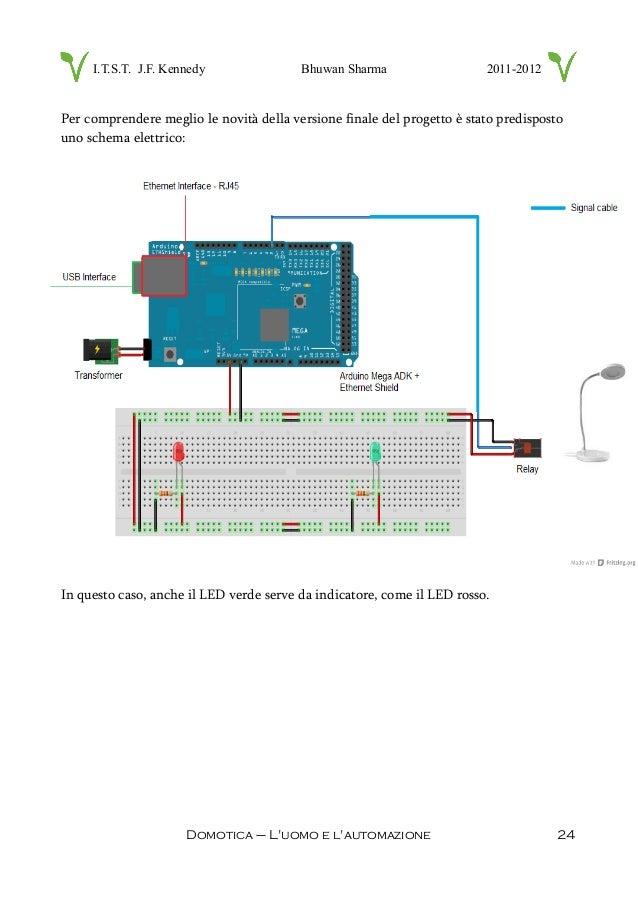 Schema Collegamento Campanello 220v : Domotica con arduino tesina maturità