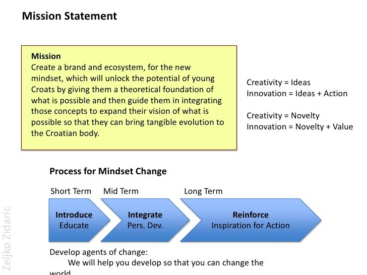 innovation vision statement