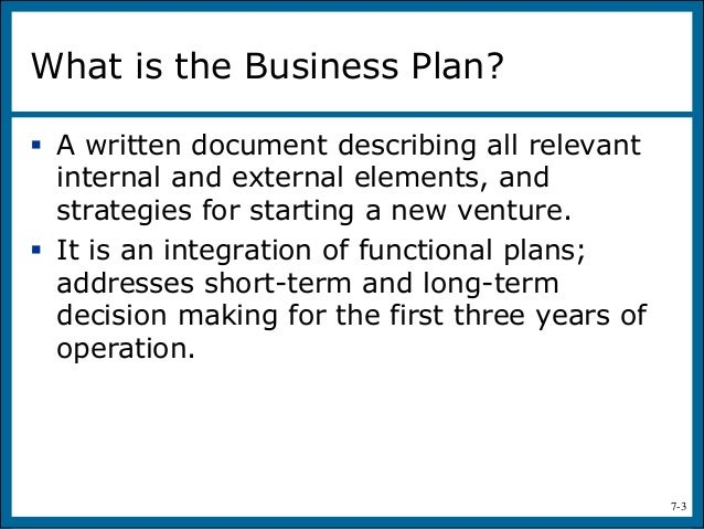 Hisrich and peters business plan