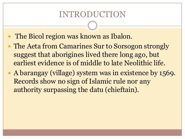 INTRODUCTION  The region is composed of six provinces: Albay – Legazpi City Camarines Norte - Daet Camarines Sur - Naga S...