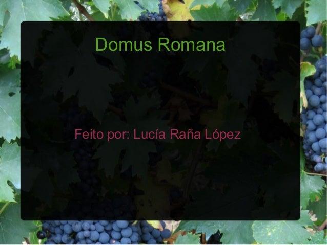Domus RomanaFeito por: Lucía Raña López