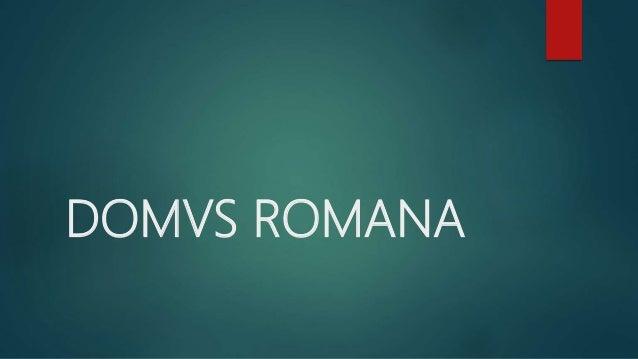 DOMVS ROMANA
