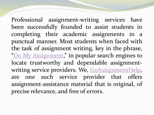 do my assigment Are you seeking for do my assignment online services essaygator serve as the best platform for students who need assistance from highly skilled experts we have a.