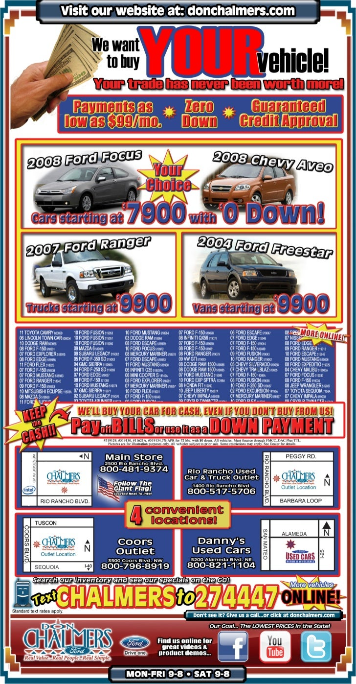 Don Chalmers Ford Buy And Sell Special Rio Rancho NM