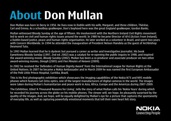 About Don Mullan Don Mullan was born in Derry in 1956. He lives now in Dublin with his wife, Margaret, and three children,...