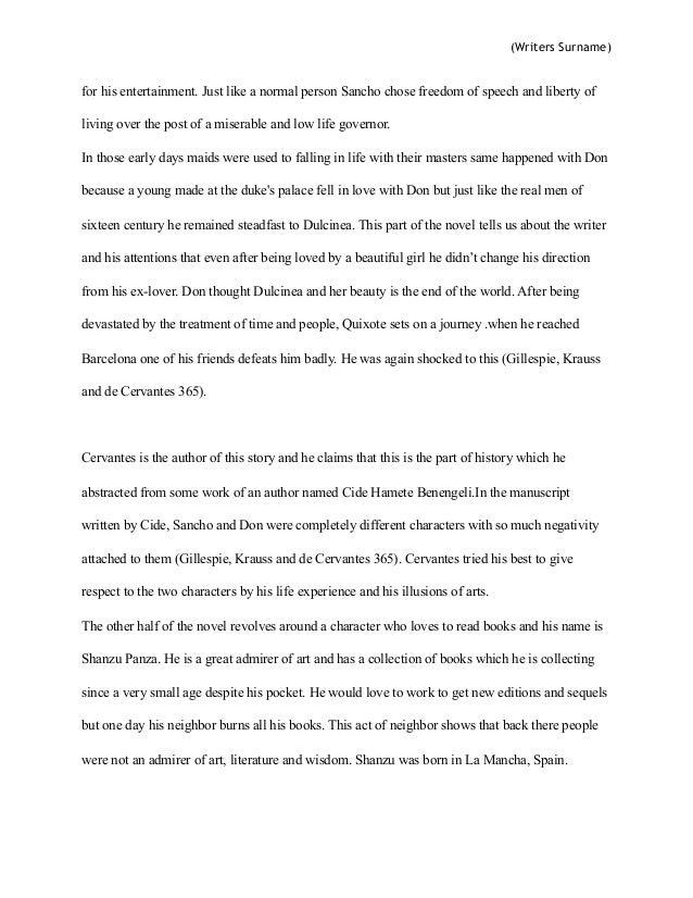 don quixote persuasive essay