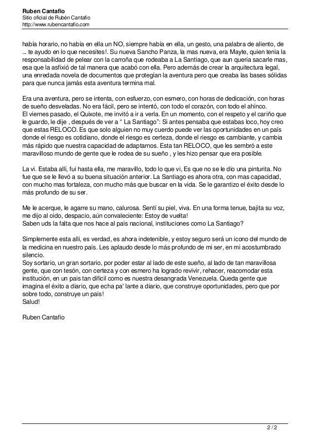 Ruben Cantafio Sitio oficial de Rubén Cantafio http://www.rubencantafio.com había horario, no había en ella un NO, siempre...