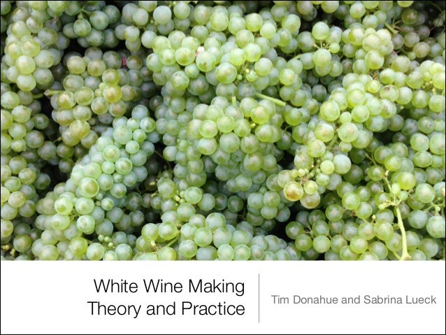 White Wine Making Theory and Practice  Tim Donahue and Sabrina Lueck