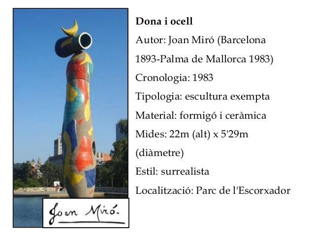Dona i ocell Autor: Joan Miró (Barcelona 1893-Palma de Mallorca 1983) Cronologia: 1983 Tipologia: escultura exempta Materi...