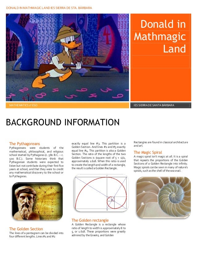 Donald in mayhmagic land – Donald in Mathmagic Land Worksheet