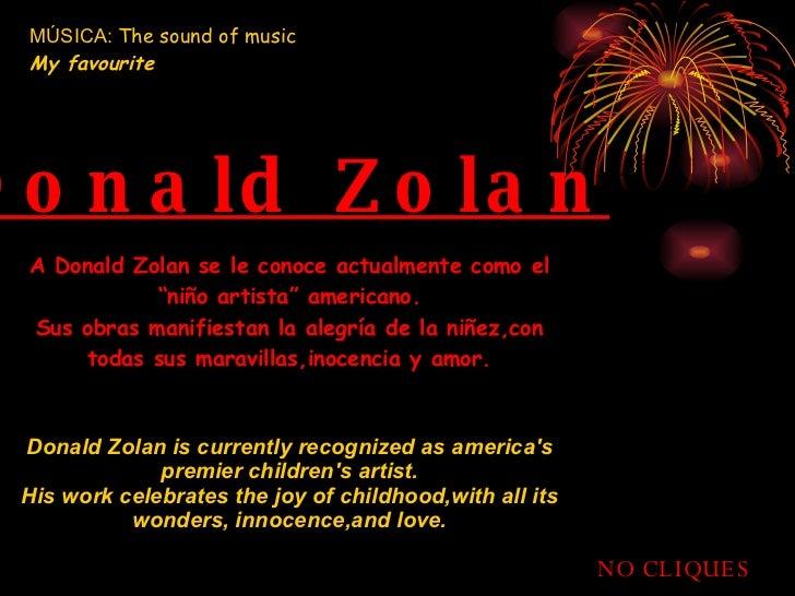"""A Donald Zolan se le conoce actualmente como el """"niño artista"""" americano. Sus obras manifiestan la alegría de la niñez,con..."""
