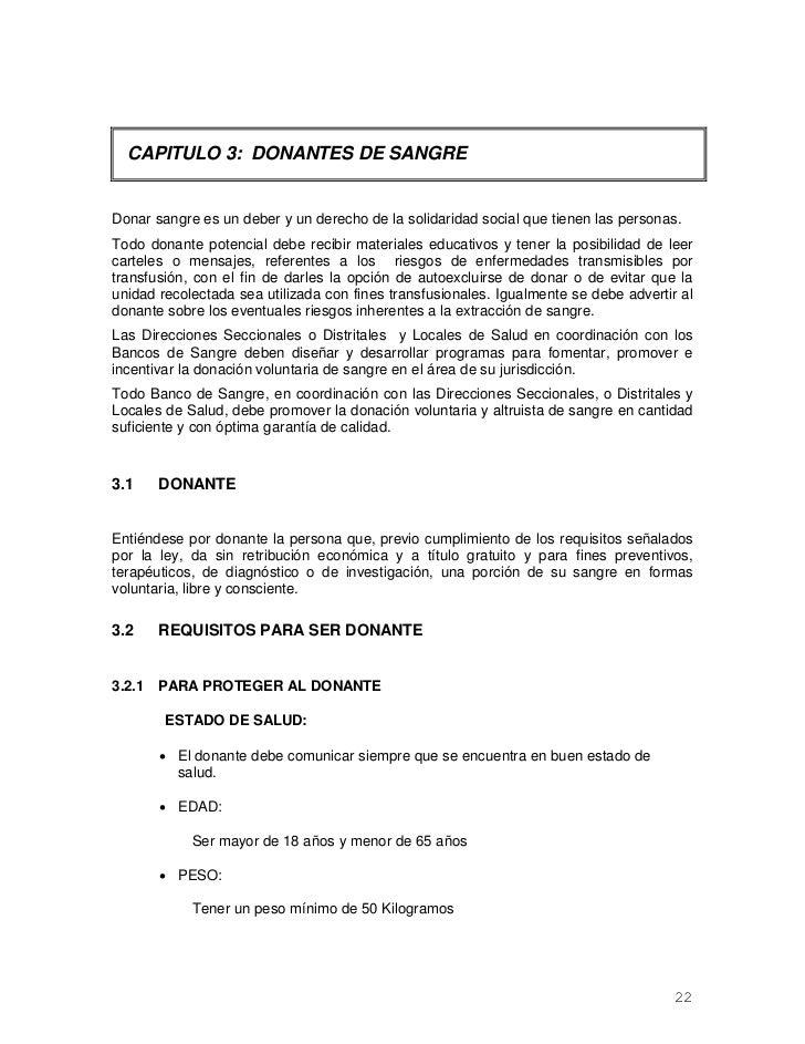 CAPITULO 3: DONANTES DE SANGREDonar sangre es un deber y un derecho de la solidaridad social que tienen las personas.Todo ...