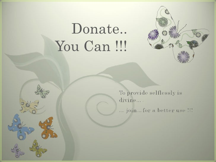 Donate.. You Can !!!