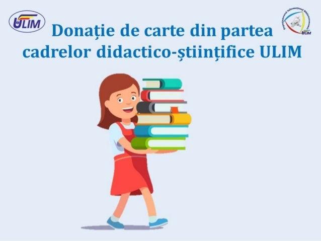 Donație de carte din partea cadrelor didactico-științifice ULIM