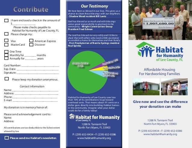 Habitat for Humanity Donation Brochure 2009