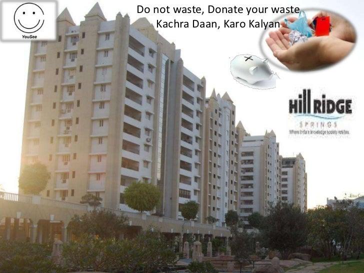 Do not waste, Donate your waste   Kachra Daan, Karo Kalyan
