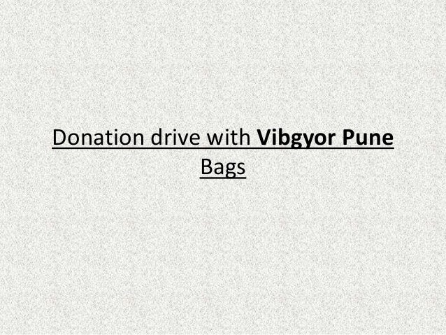 Donation drive with Vibgyor Pune Bags