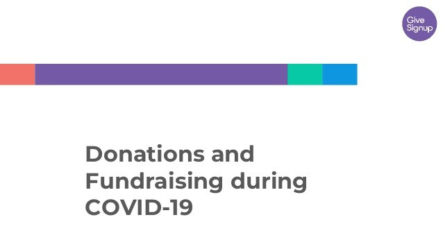 Donations and Fundraising during COVID-19