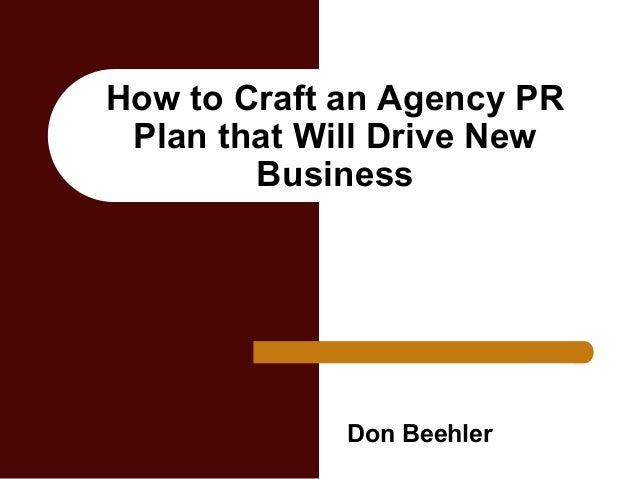 pr business plan