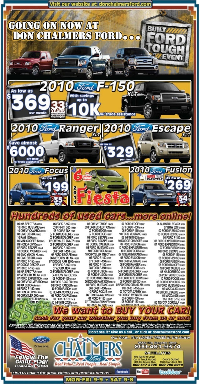 Don Chalmers Ford Specials Albuquerque NM