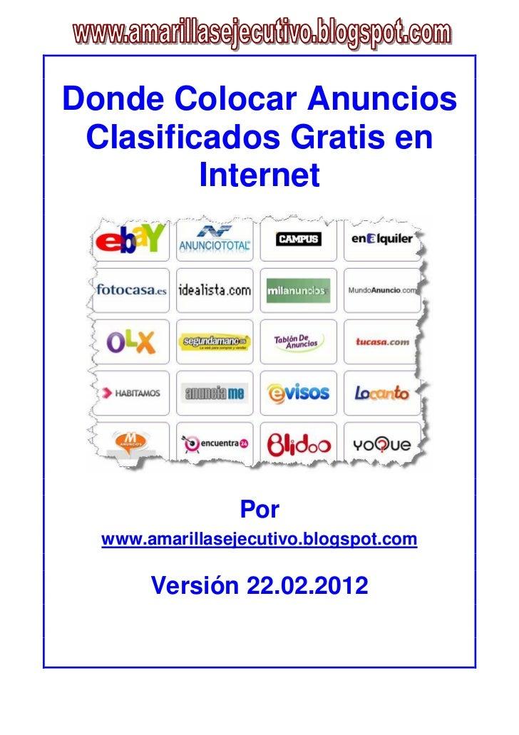 Donde colocar anuncios clasificados gratis en internet for Anuncios clasificados gratis