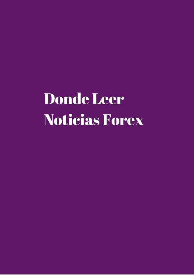 Donde Leer  Noticias Forex