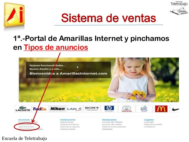 Precios productos Amarillas Internet Slide 2