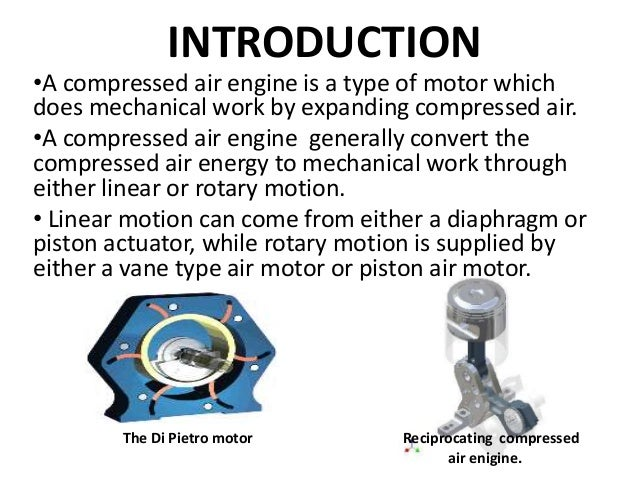 compressed air car research paper Call for paper editorial this research aims to examine the performance of a car which takes air as the working working and testing of the compressed air car.