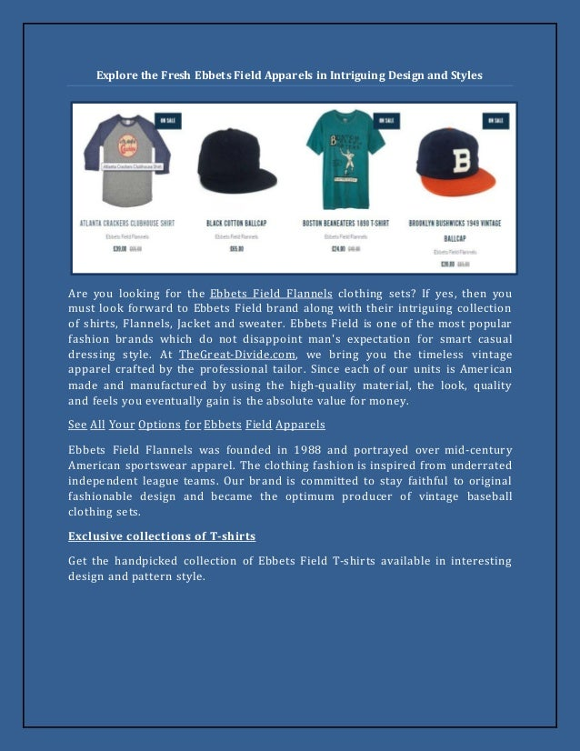 Explore the Fresh Ebbets Field Apparels in Intriguing Design and Styles Are  you looking for the ... 0a2b36c4f