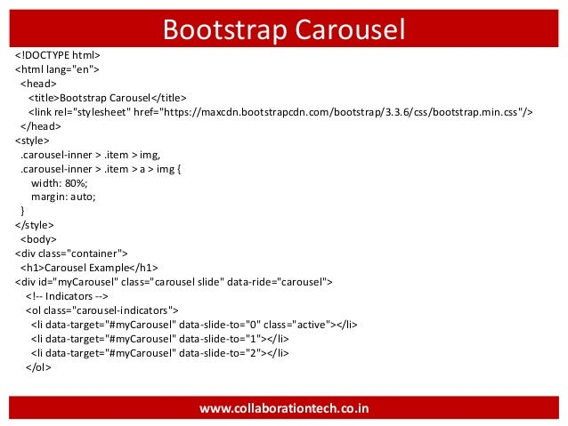 Introduction to bootstrap - Bootstrap slider div ...