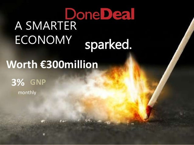 A SMARTER ECONOMY sparked. monthly Worth €300million 3% GNP