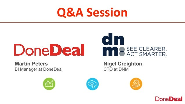 Q&A  Session Nigel Creighton CTO at DNM Martin Peters BI Manager at DoneDeal