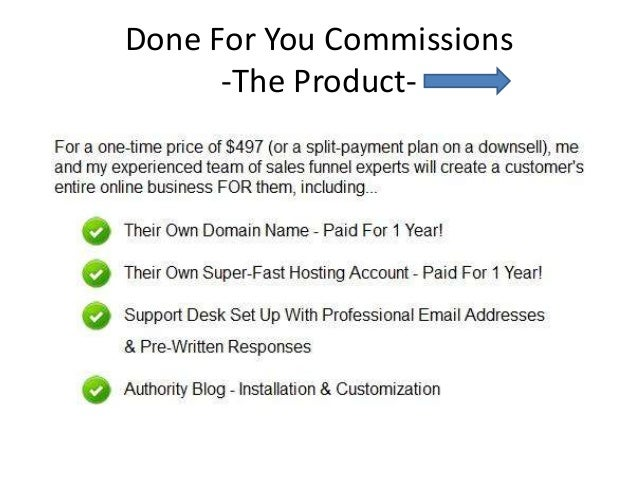 Done for you commissions   james francis - product overview Slide 2